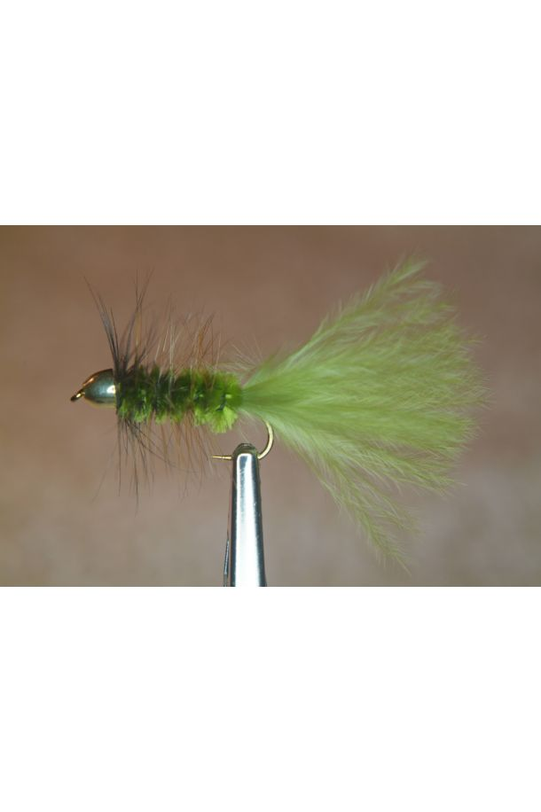 Olive Cone Head Woolly Bugger with Olive Tail