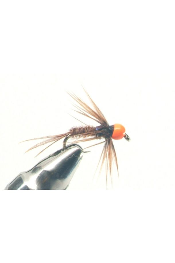 Fire Orange Head Pheasant Tail