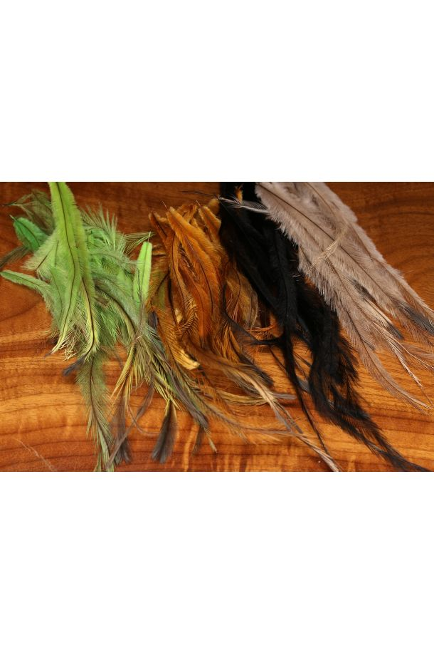 EMU Feathers (Dyed and Natural) - Fly Tying
