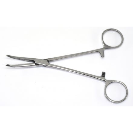 """Fly Tying Forceps - 6"""" Curved Jaws"""