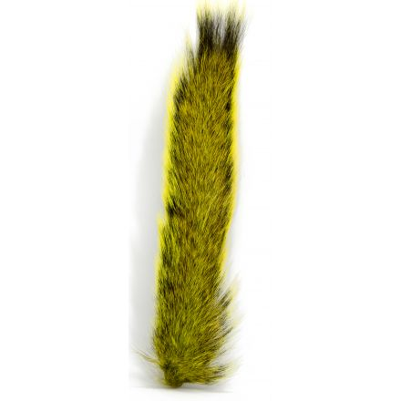 Picric Acid Dyed Natural Squirrel Tail