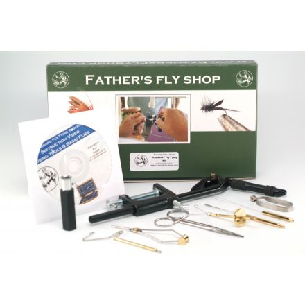 Standard+ Fly Tying Tool Kit With Vise, Tools, and Clamp Base -- Plus DVD instruction video