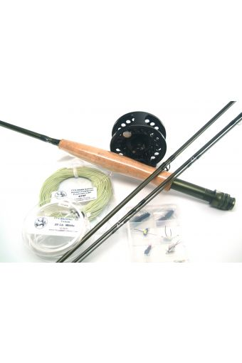 Balanced Rod, Reel, Leader, Tippet, Backing, and Fly Line - Including Flies